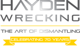 Hayden Wrecking 70 Anniversary Logo reduced